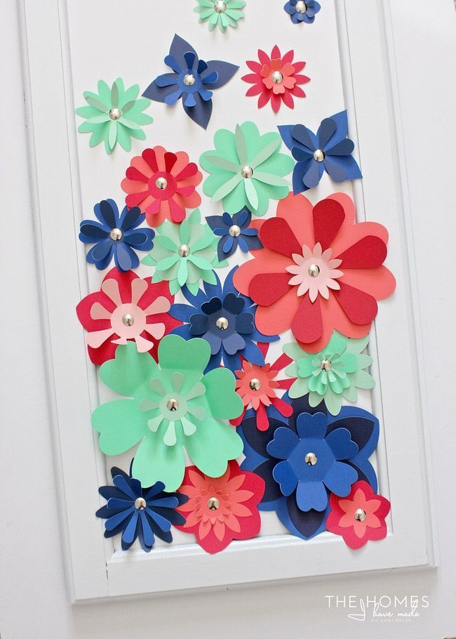 Inexpensive Artwork diy paper flower artwork - thirty handmade days