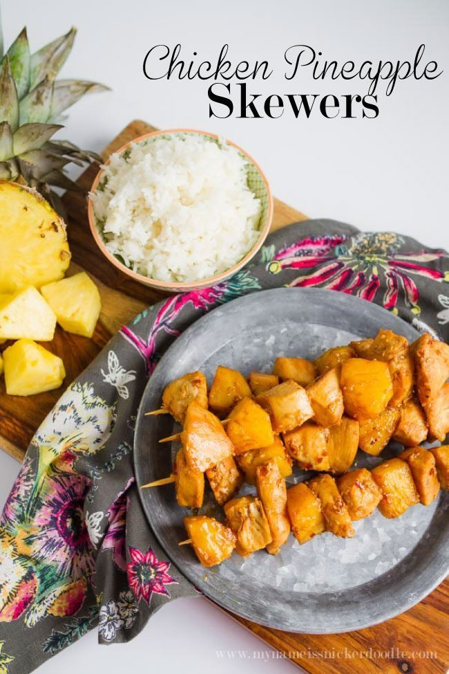 Pineapple Chicken Skewers - perfect for a summer barbecue