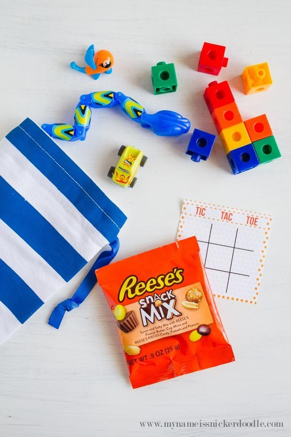 Fun tic tac toe game using Reese's Snack Mix