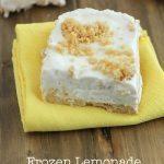 No-Bake Frozen Lemonade Bars