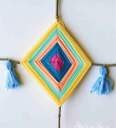 DIY God's Eye - cool project for Funner in the Summer from Skip to My Lou
