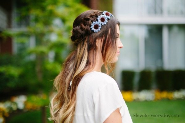 boho flower crown