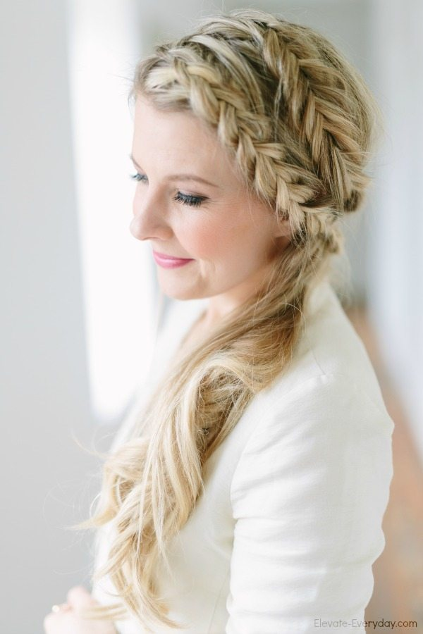 inside out braid and fishtail