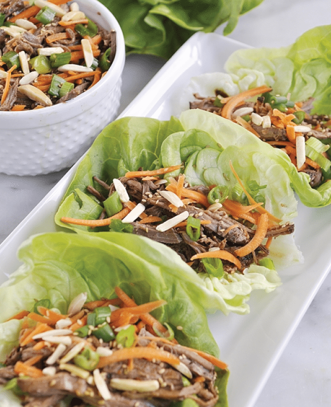 Slow Cooker Korean Lettuce Wraps from Your Homebased Mom