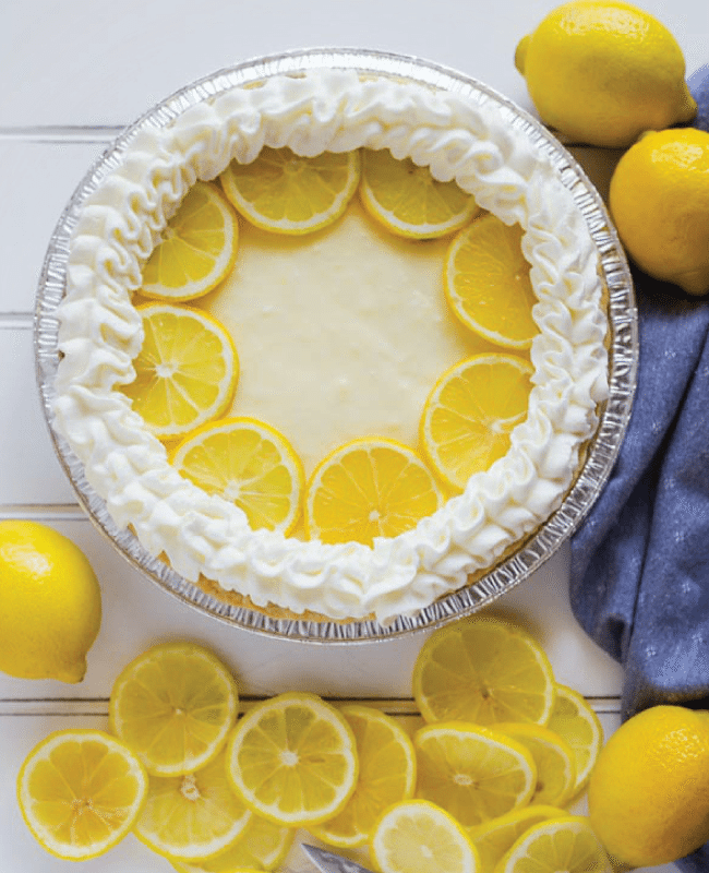 Lemon Cream Pie from Lolly Jane