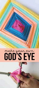 God's Eye Craft- learn how to make a God's eye with this quick tutorial