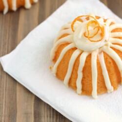 Delicious Sweet Orange Bundt Cakes from CraftingE