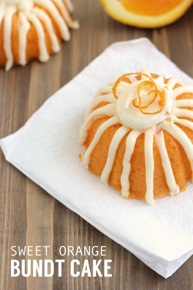 Delicious Sweet Orange Bundt Cake from CraftingE via www.thirtyhandmadedays.com