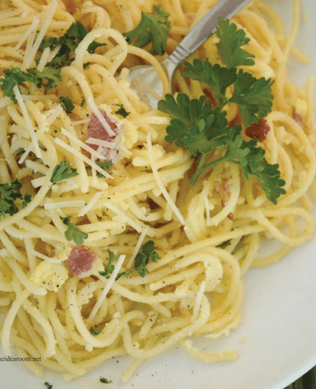 Spaghetti Carbonara from the Idea Room
