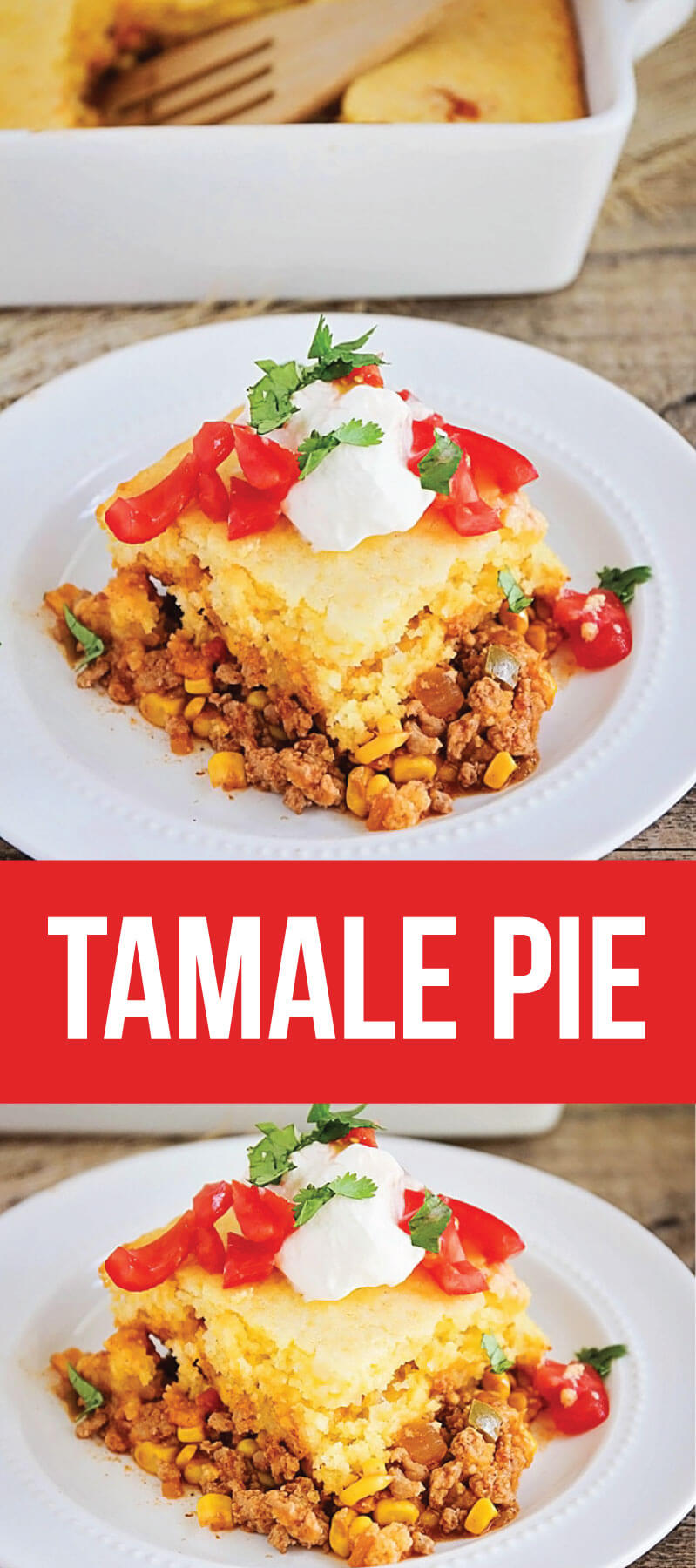 5 Ingredient Tamale Pie - easy, yummy dinner that the whole family will love! from www.somewhatsimple.com