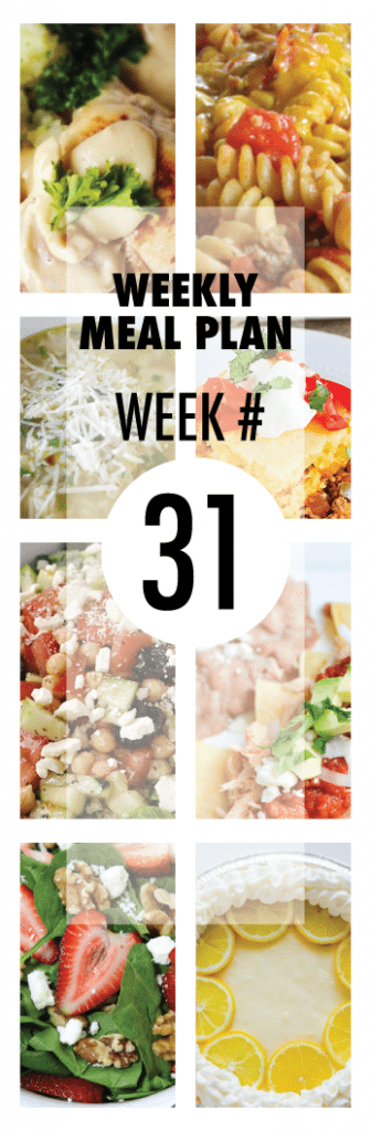 Weekly Meal Plan from some of your favorite bloggers
