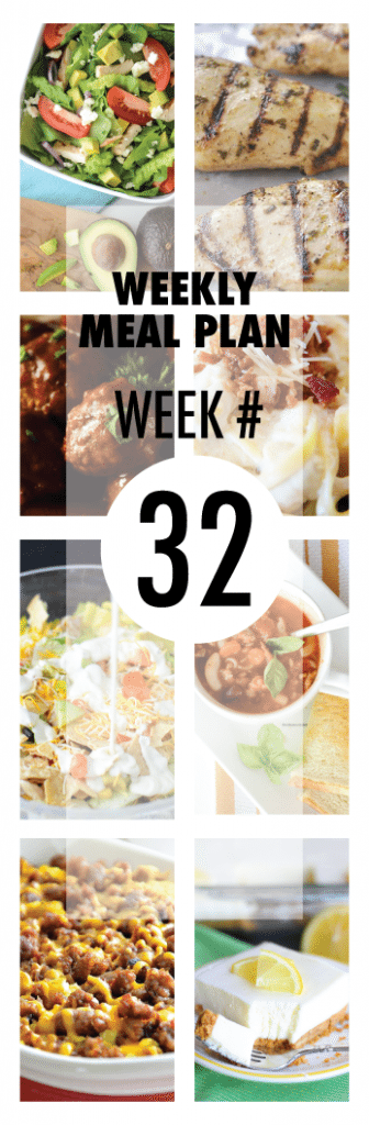 Weekly Meal Plan #32 from some of your favorite bloggers