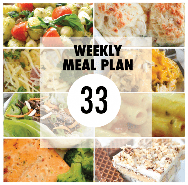 Weekly Meal Plan #33 from some of your favorite bloggers