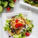 Cilantro Lime Pork Tostada Salad