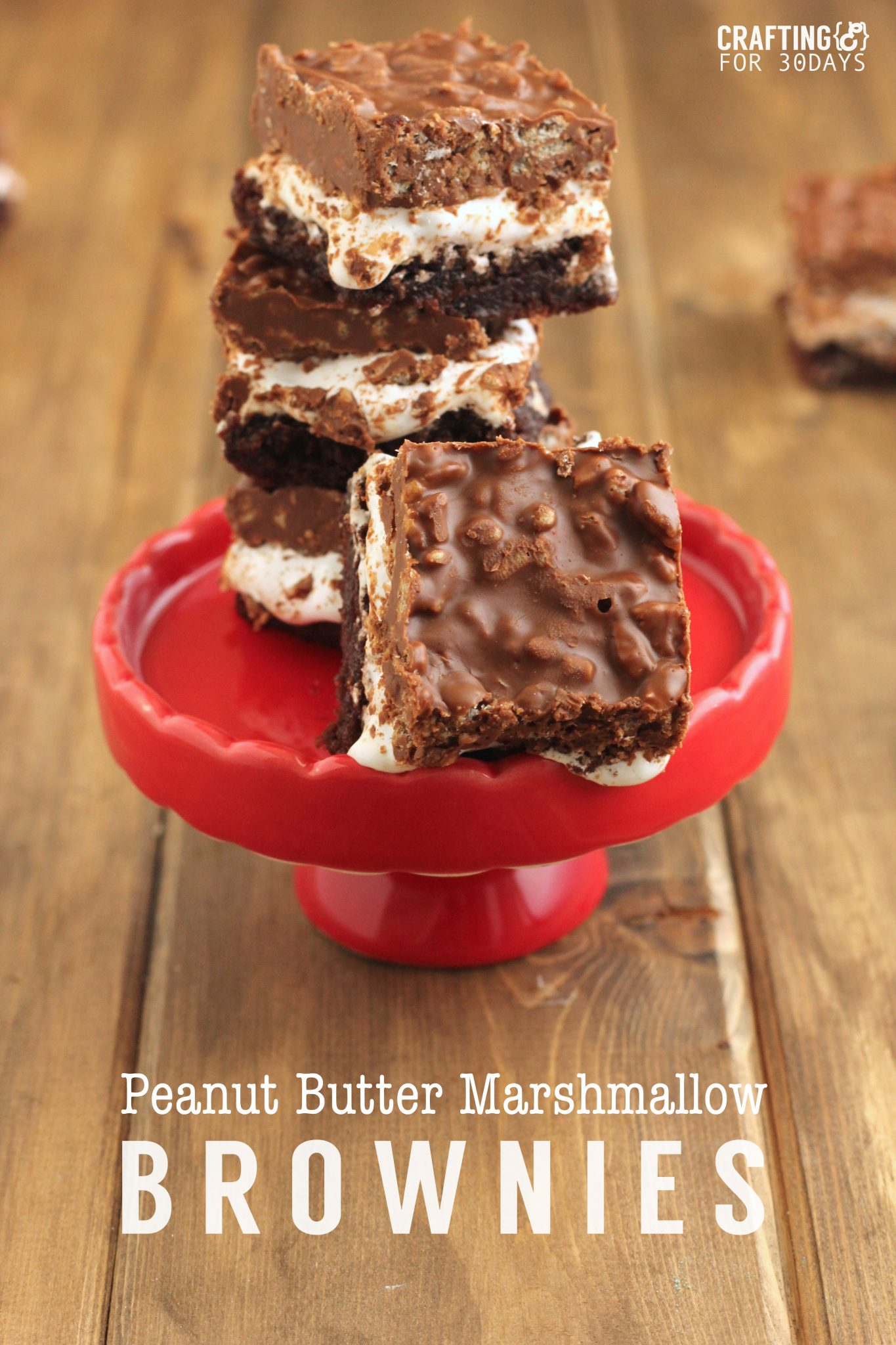 Peanut Butter Marshmallow Brownies Thirty Handmade Days