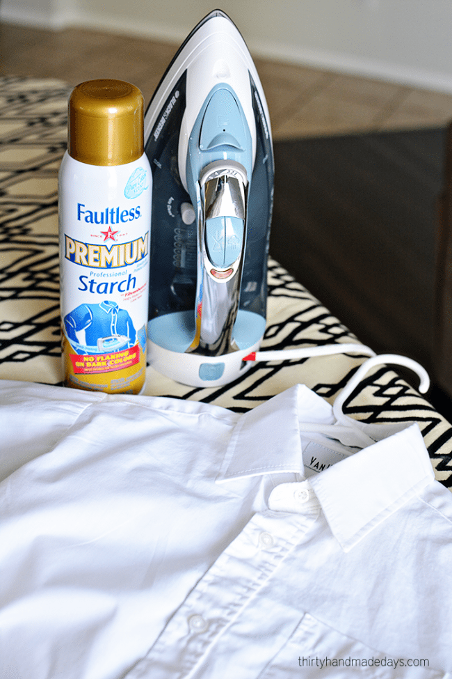 Teaching Kids How to Iron - made so much easier with Faultless Premium Starch