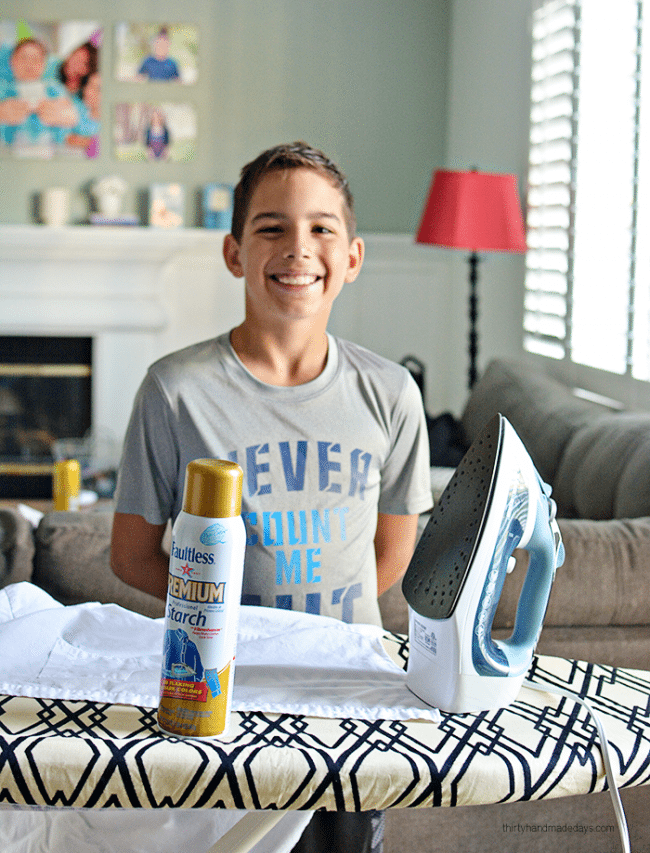 Teaching kids How to Iron - help your kids become more independent, teach them how to care for their clothes. from www.thirtyhandmadedays.com