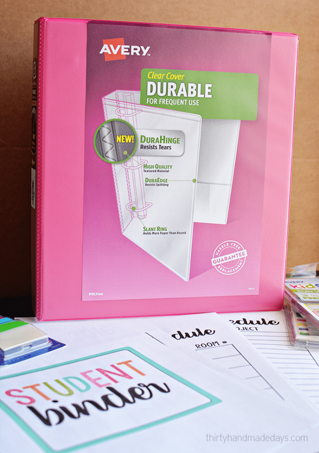 Great tool for people returning back to school - Includes FREE printables!