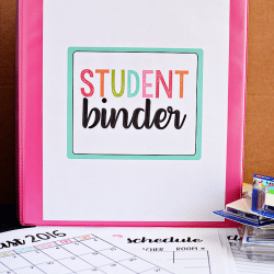 Student Binder with Free Printables