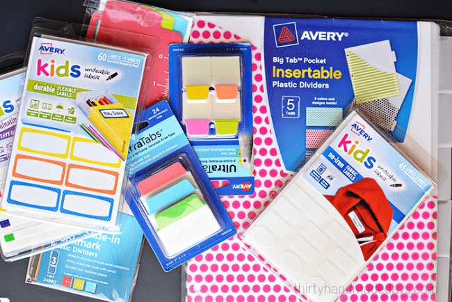 Great for back to school - awesome products from Avery - Includes FREE printables! www.thirtyhandmadedays.com