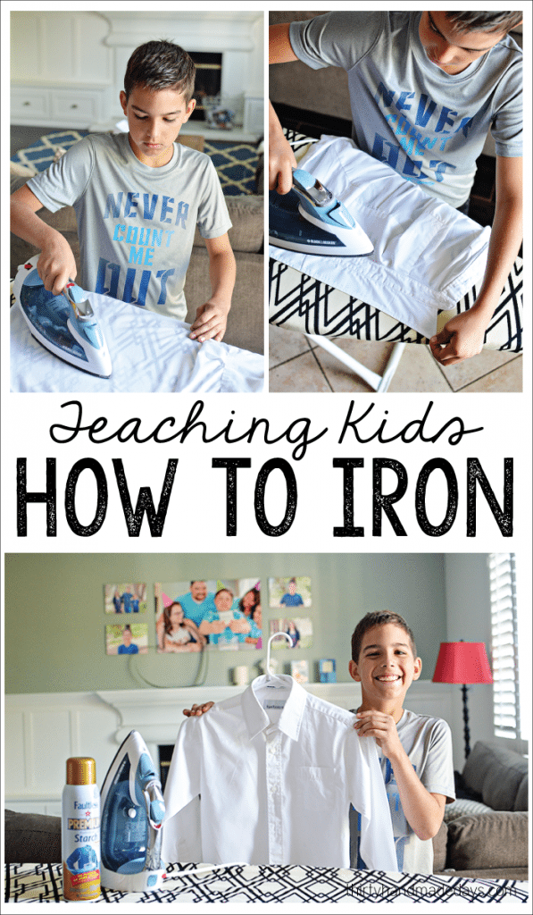 Teaching kids How to Iron - help your kids become more independent, teach them how to care for their clothes. www.thrityhandmadedays.com