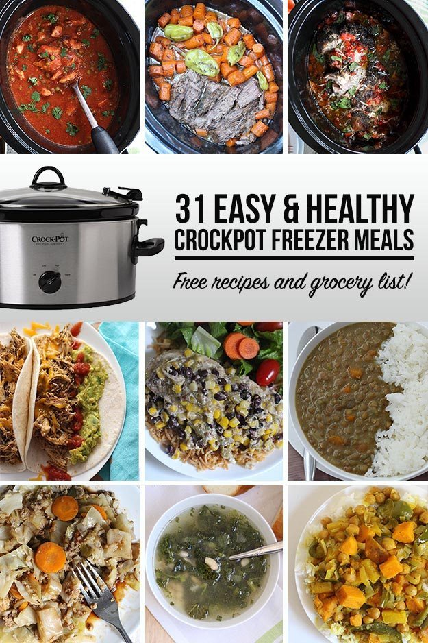 31 easy and healthy crockpot freezer meals thirty handmade days 31 easy and healthy crockpot freezer meals forumfinder Images