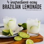4 Ingredient Easy Brazilian Lemonade/Limeade from www.thirtyhandmadedays.com