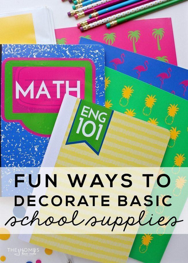 Fun Ways to Decorate Basic School Supplies
