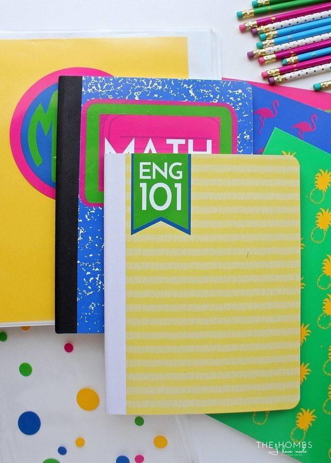 Save money by buying simple and generic school supplies. Personalize them and make them YOU by adding your own designs and embellishments!