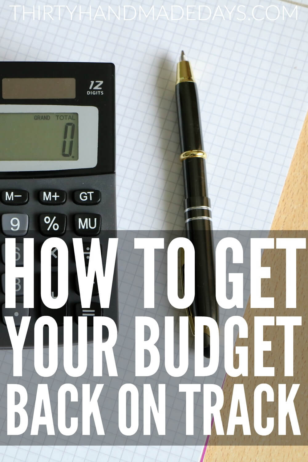 How to get your budget back on track - follow these tips