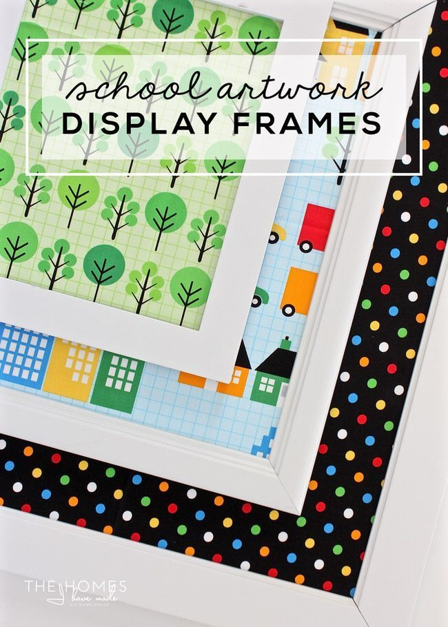 Use up old frames and display your kid's school artwork with these fun and simple School Artwork Display Frames!