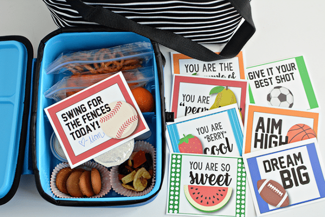 Lunch box ideas your kids will love! In partnership with Arctic Zone. Includes free printable lunchbox notes via www.thirtyhandmadedays.com
