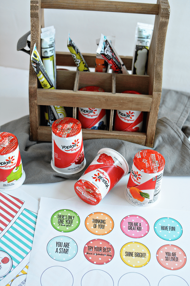 Your kids will feel the love with these cute back to school lunchbox notes! Free printables included, sponsored by Yoplait from thirtyhandmadedays.com