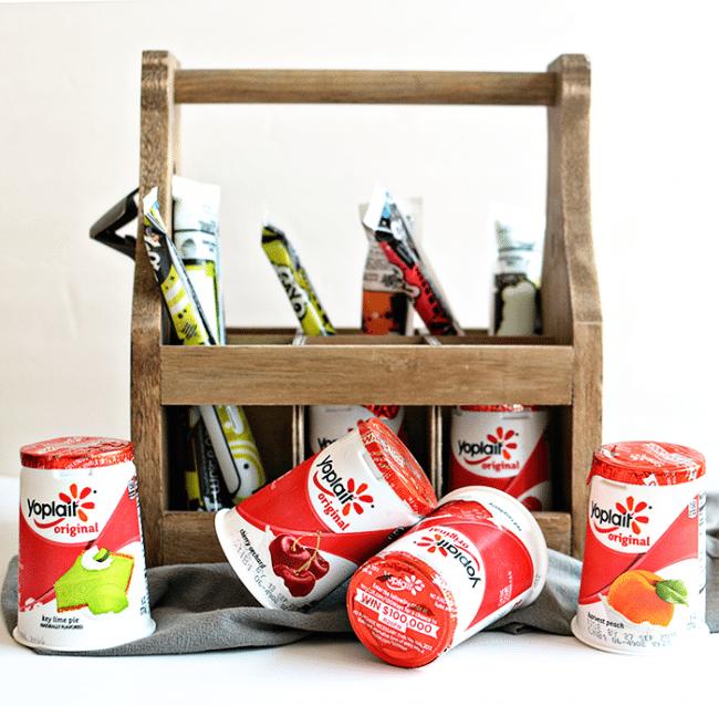 Our favorite back to school snack- Yoplait yogurt