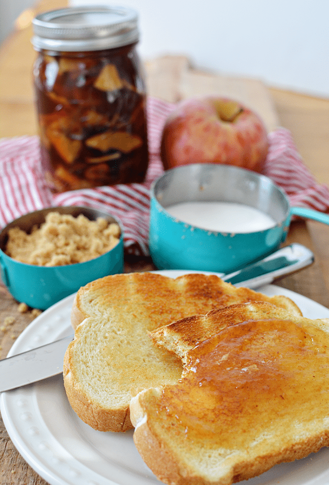 Nothing better than toast with butter and jelly! Make this amazing Caramel Apple Jelly - perfect to wrap up summer and welcome in fall. Get the recipe at thirtyhandmadedays.com