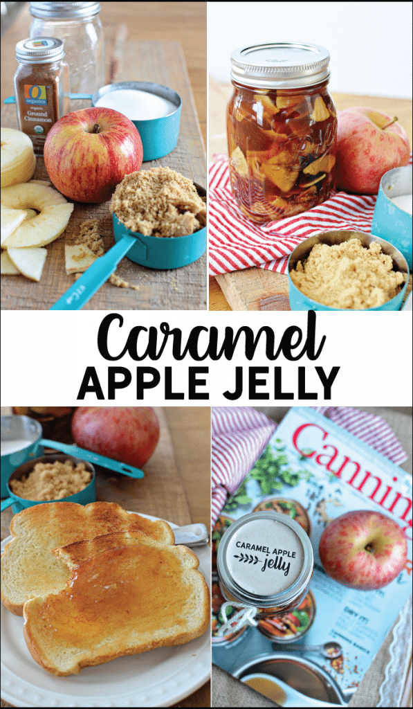 Make this amazing Caramel Apple Jelly - perfect to wrap up summer and welcome in fall. Get the recipe and free printable jar label from www.thirtyhandmadedays.com