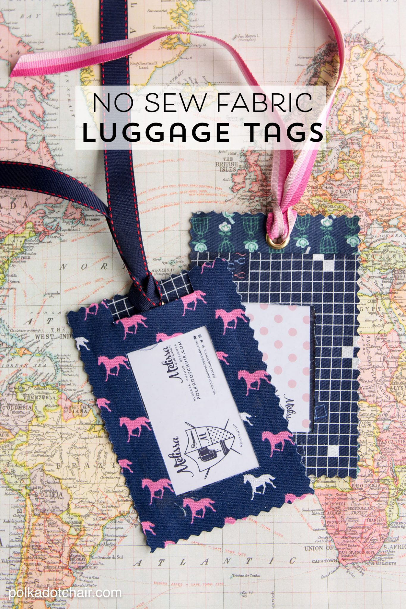 No Sew Fabric Luggage Tags Thirty Handmade Days