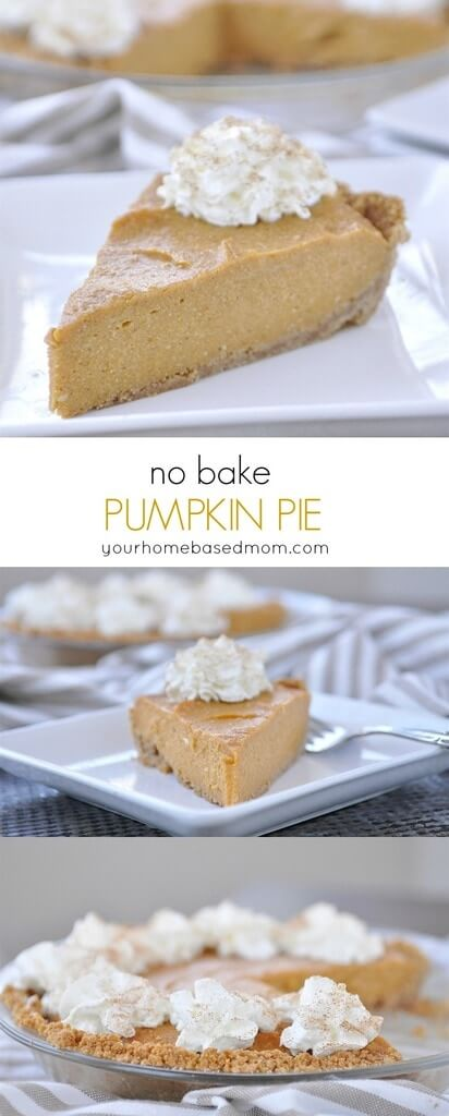 If you love pumpkin pie but don't want to put in all the work, this is the pumpkin pie recipe for you!  You'll love this no bake version. from Your Homebased Mom via www.thirtyhandmadedays.com