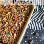 Trick or Treat Candy Pretzels - fun Halloween recipe!