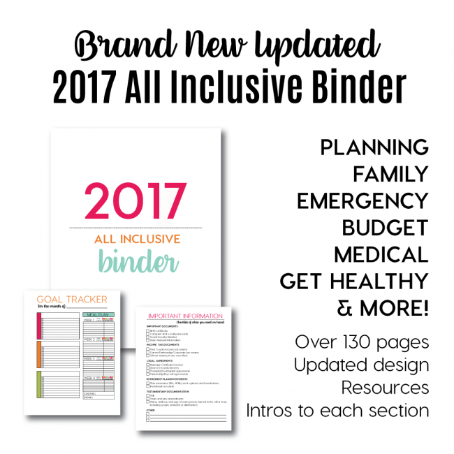 2017 All Inclusive Binder from www.thirtyhandmadedays.com