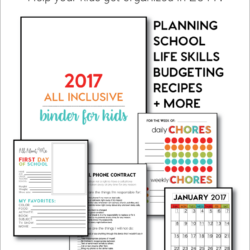 2017 All Inclusive Binder for KIDS from Thirty Handmade Days