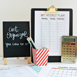 Get Organized with 30 pages from Thirty Handmade Days