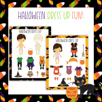Printable Halloween Dress Up Dolls