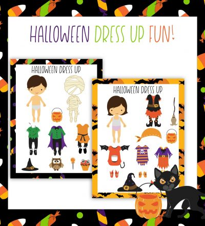 Printable Halloween Dress Up Dolls- these are adorable to use for the holidays! www.thirtyhandmadedays.com