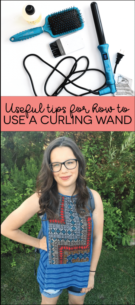 Useful tips for how to use a curling wand from www.thirtyhandmadedays.com