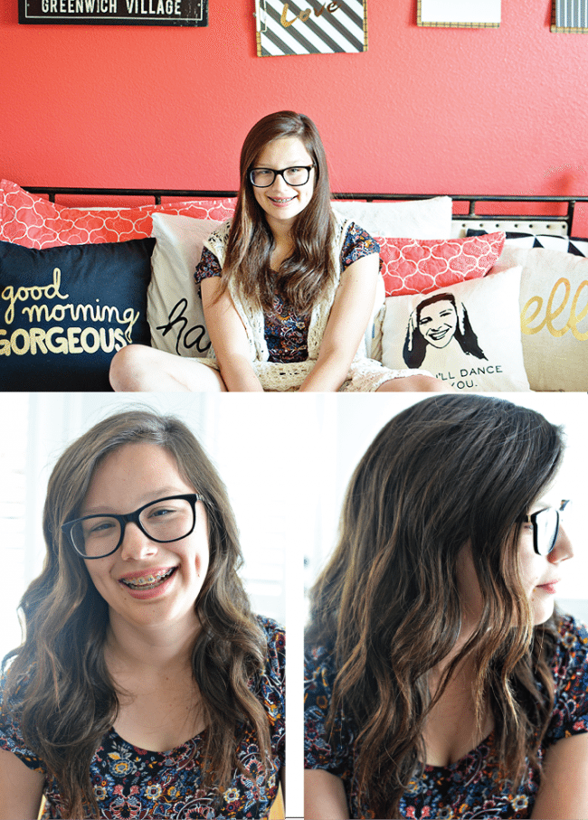 Useful tips for how to use a curling wand - how to do loose waves from www.thirtyhandmadedays.com