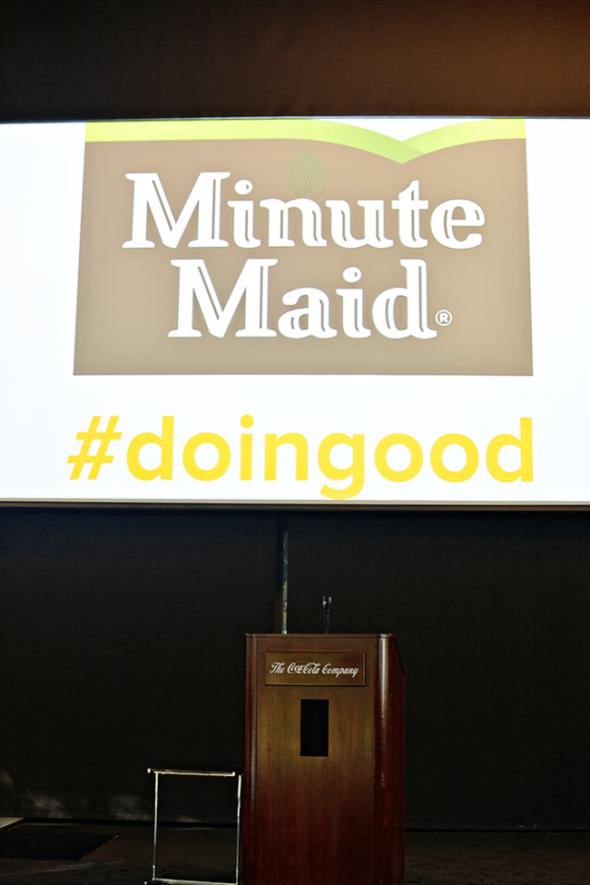 Minute Maid Event at Coca Cola Headquarters to discuss parenting