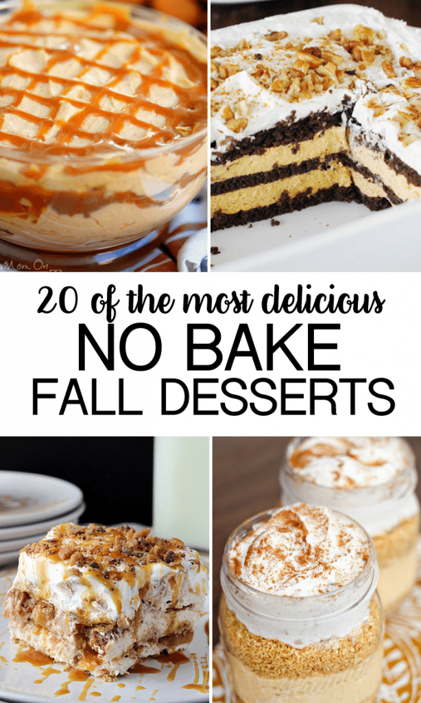 20 No Bake Fall Desserts- gathered some of the most delicious dessert recipes for this fall that will make you drool!