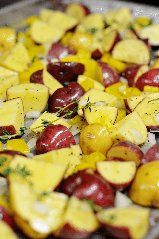 How to make Autumn Roasted Potatoes - these are perfect as a side dish