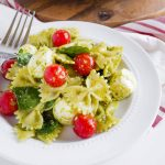 Pesto Caprese Pasta Salad - a take on an old classic. This pasta recipe is so good! from www.thirtyhandmadedays.com